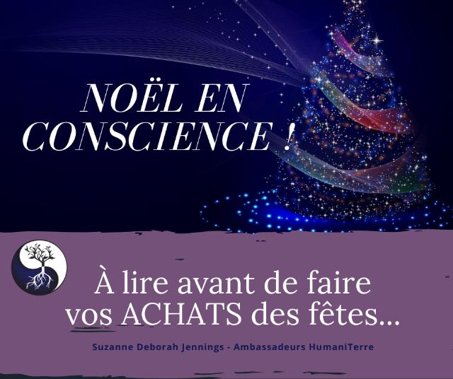 NOËL EN CONSCIENCE  -  JOYEUX NOËL QUELQUES SEMAINES À L'AVANCE.