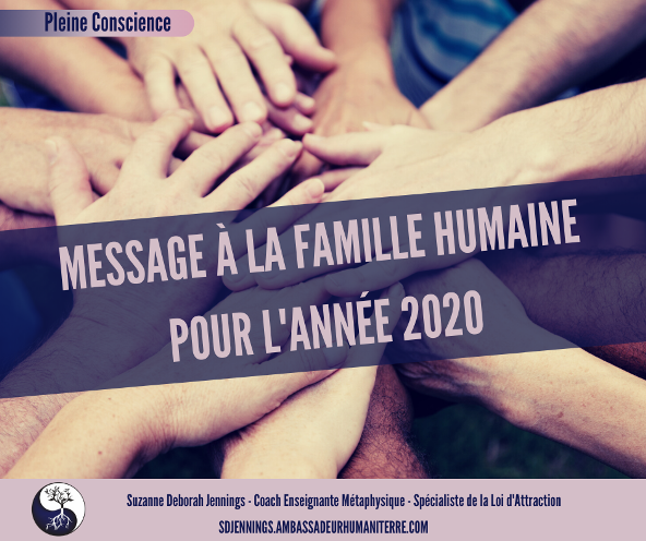 UN MESSAGE À LA FAMILLE HUMAINE POUR 2020