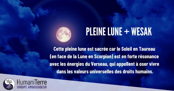 Pleine Lune et Wesak – 7 mai 2020 - Révélations de l'ombre et de la Lumière.