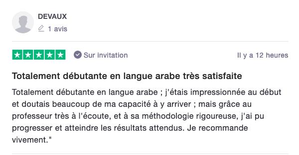 Temoignage apprendre l'arabe