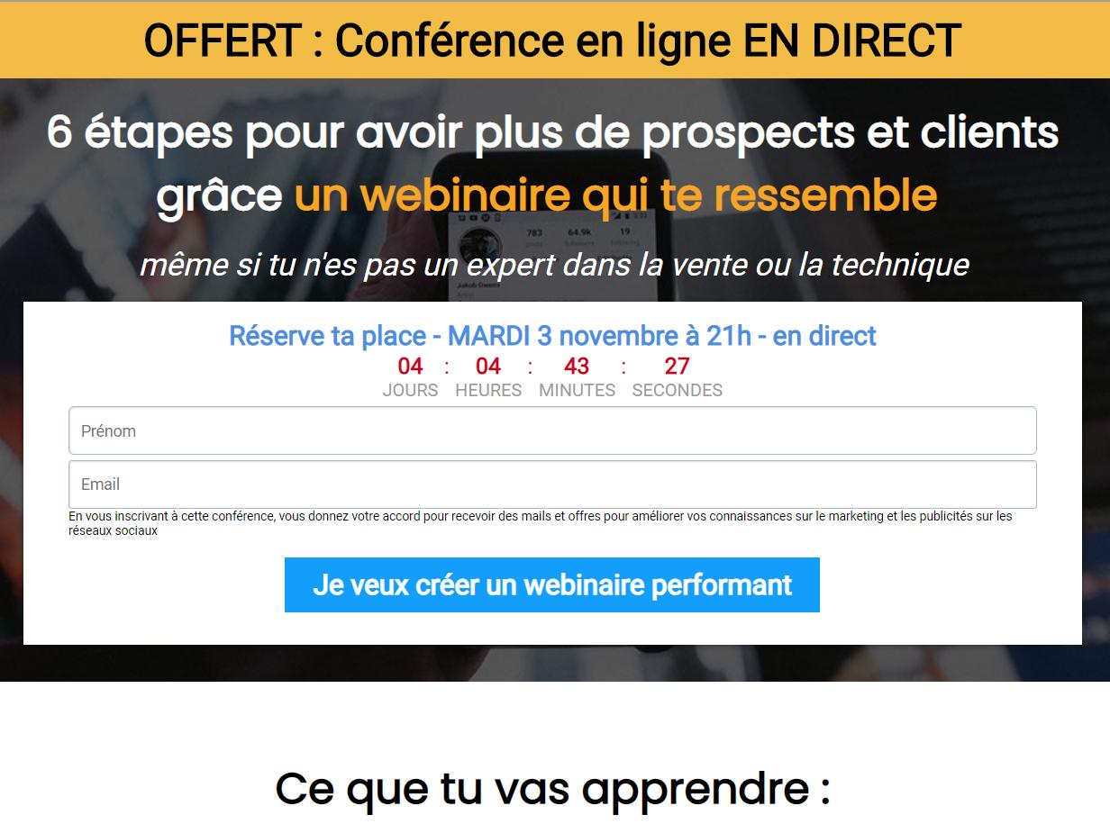 OFFERT : Conférence en ligne EN DIRECT