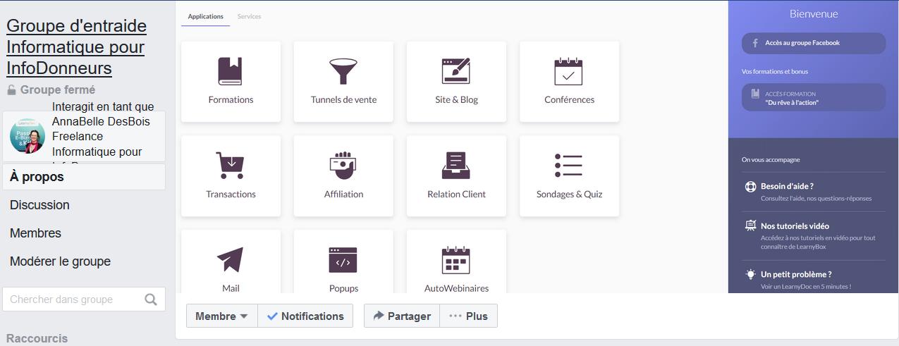 Rejoignez mon groupe Facebook d'entraide Informatique pour InfoDonneurs