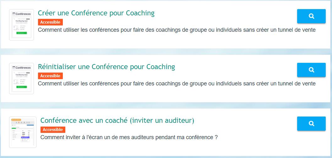 Comment gérer les coachings de groupe avec les conférences dans LearnyBox ?