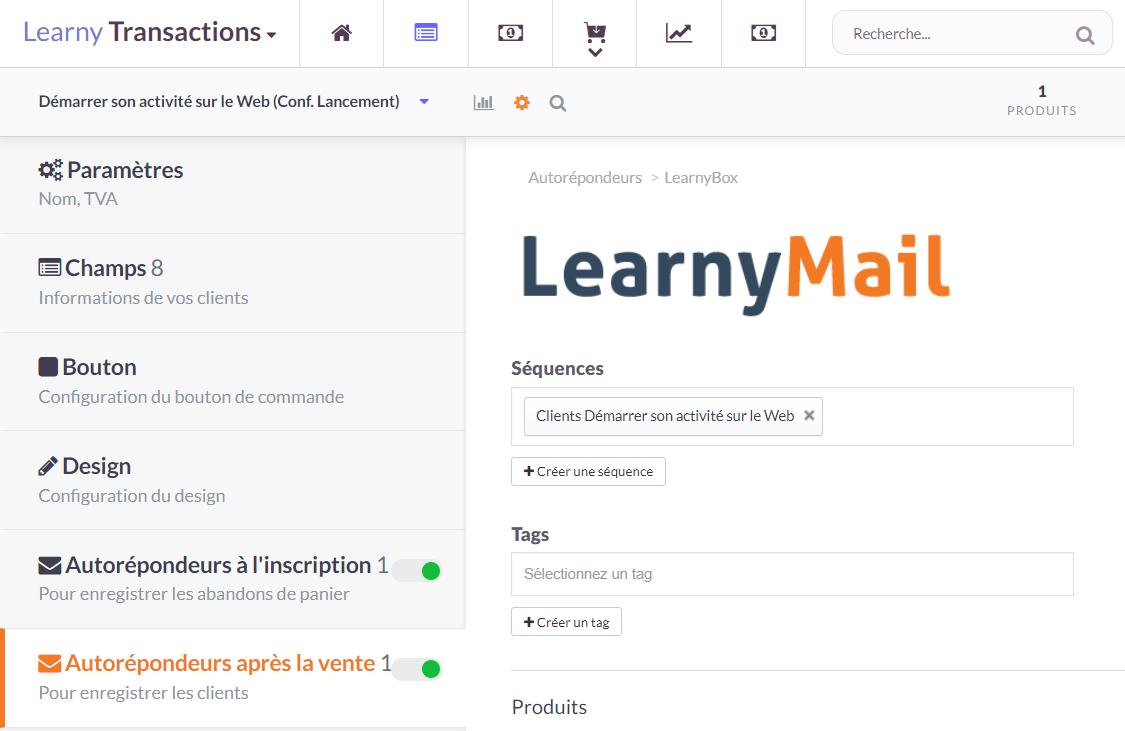 Transactions : Autorépondeur LearnyMail (2)