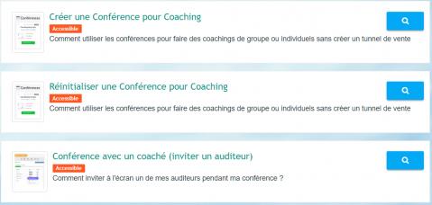 Menu de la Formation : Conférences LearnyBox