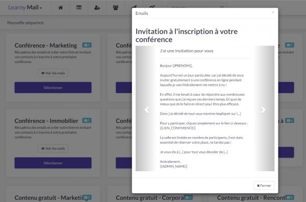 LearnyMail : Comment inviter les contacts de votre base à venir voir votre lancement, votre conférence ou votre nouveau cadeau ?