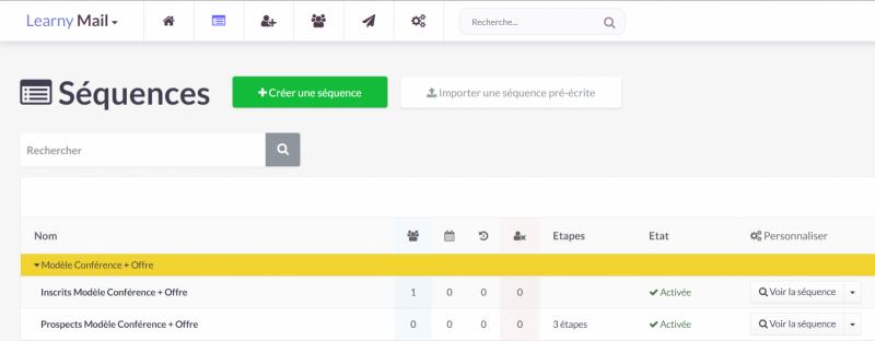 Comment gérer les séquences et les tags dans LearnyMail ?