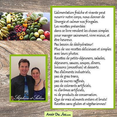 Livre numérique de 102 recettes d'Alimentation Vivante