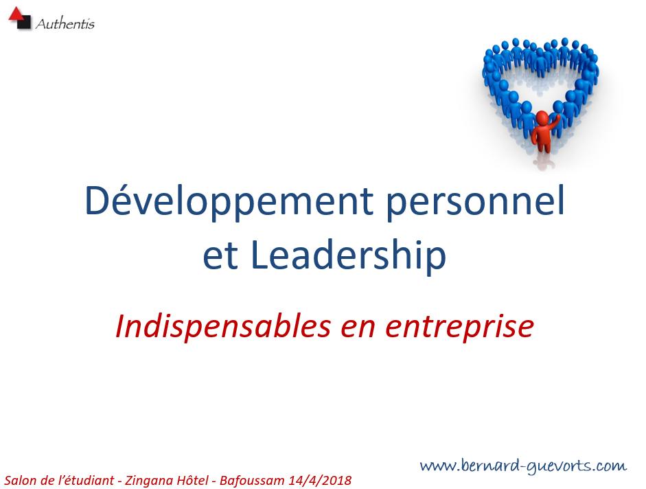 Conférence : L'importance du développement personnel en entreprise