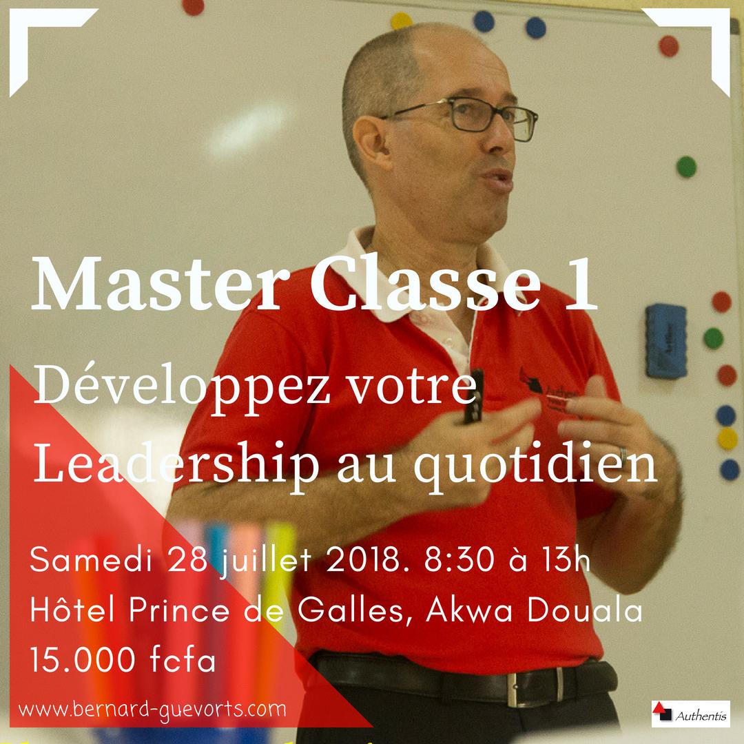 Master Classe 1 : Développez votre leadership jour après jour