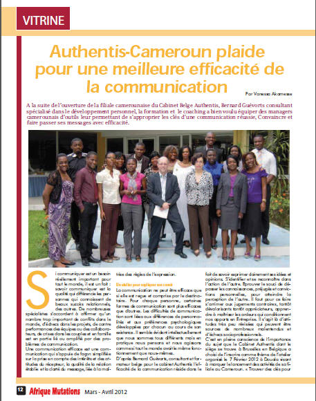 Article paru dans la revue Afrique Mutations N° 006  Mars-avril 2012