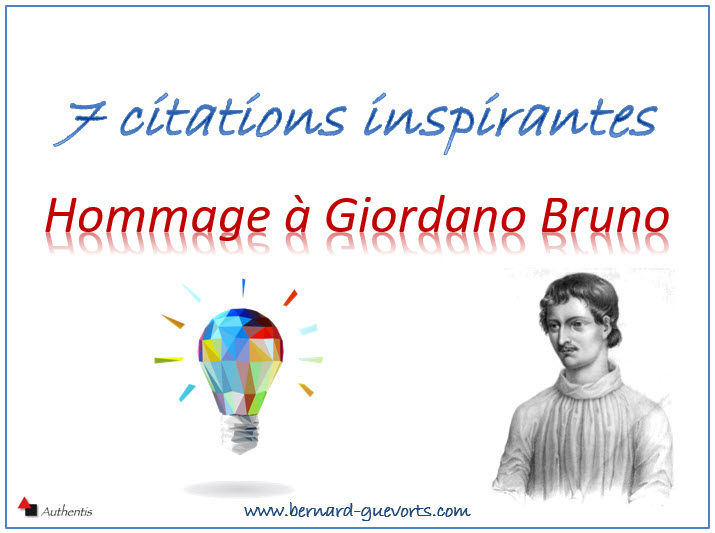 7 citations en hommage à Giordano Bruno