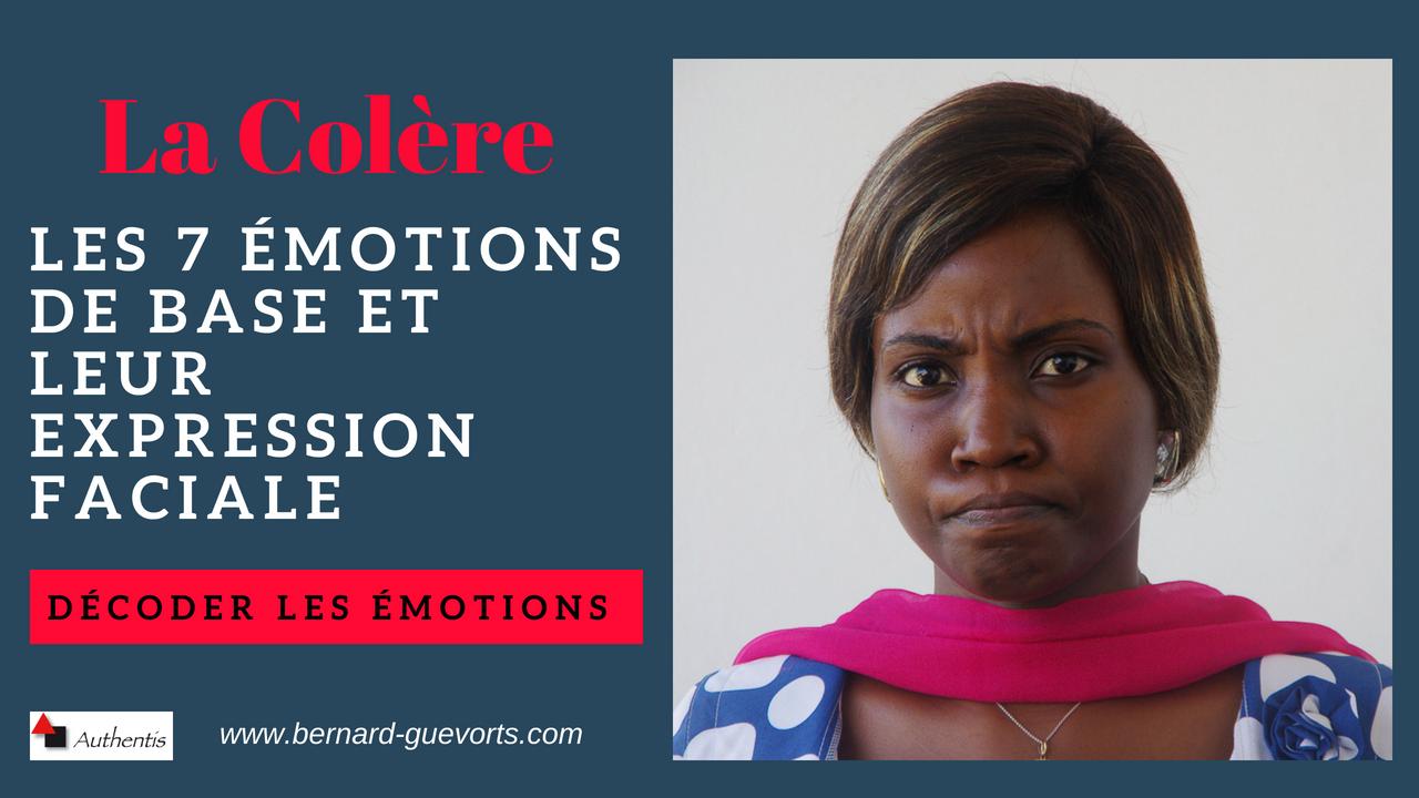Les émotions en détail : la colère