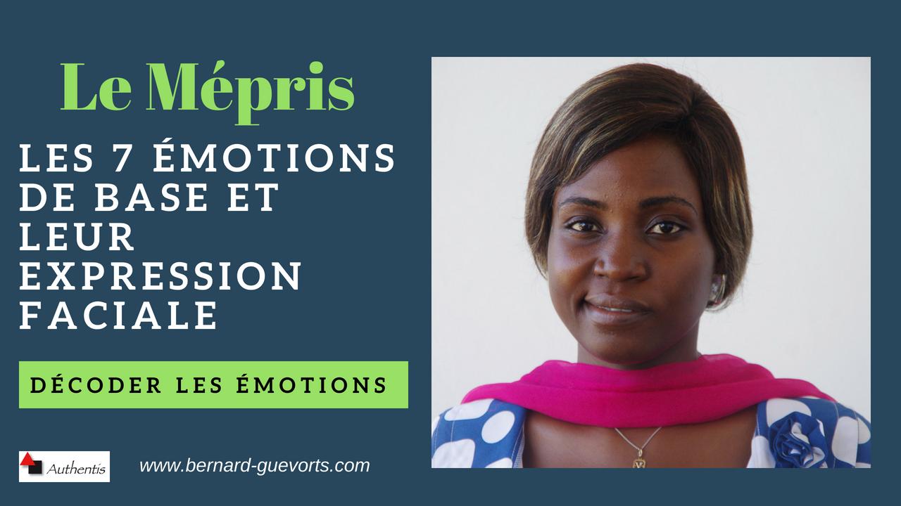 Les émotions en détail : le mépris