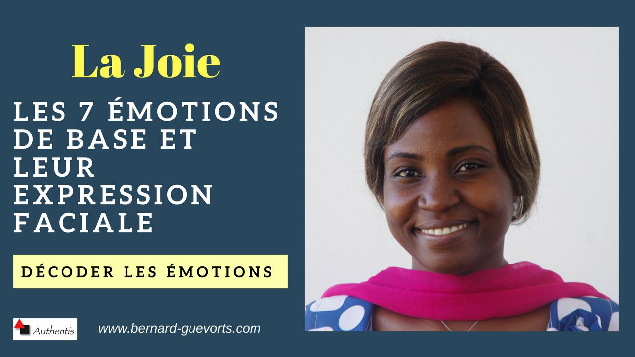 Les émotions en détail : la joie