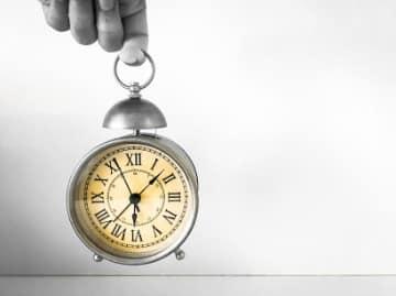 Horloge de l'historique alimentaire de l'homme