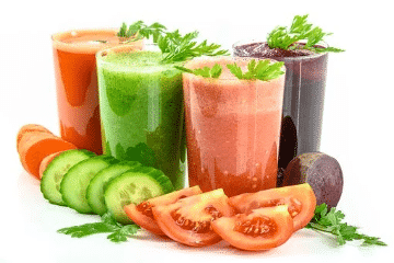 Les jus, de fruits, de légumes...