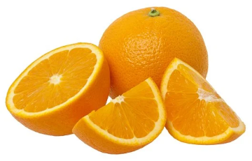 Orange découpée, peau