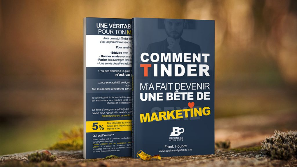 Un livre de dropshipping qui parle de marketing et de marketing relationnel en faisant une analogie avec Tinder.