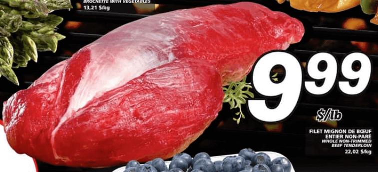 Filet Mignon de Boeuf Entier Non-Paré du 1 au 7 août 2019