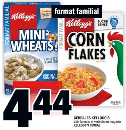 Céréales Kellogg's familiale du 1 au 7 août 2019