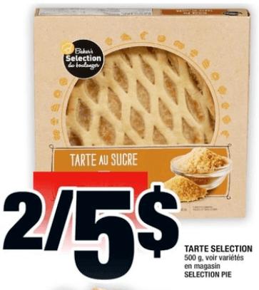 Tarte Selection 500g du 1 au 7 août 2019