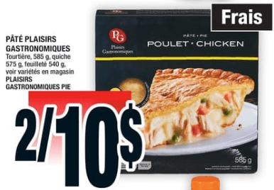 Pâté Plaisirs Gastronomiques 540-585g du 10 au 16 octobre 2019