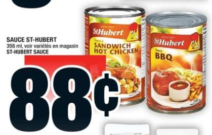 Sauce St-Hubert du 10 au 16 octobre 2019