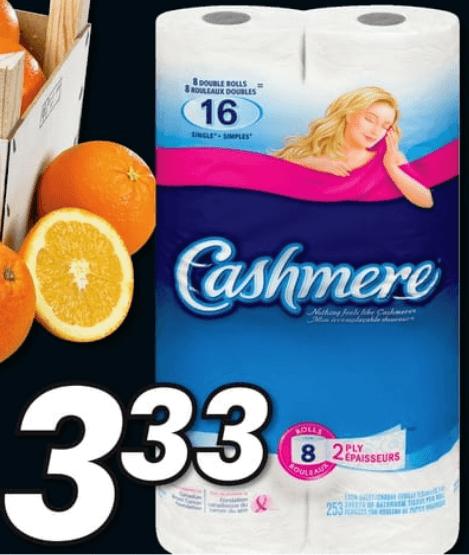 Papier Hygiénique Cashmere 8 rouleau double du 11 au 17 avril 2019