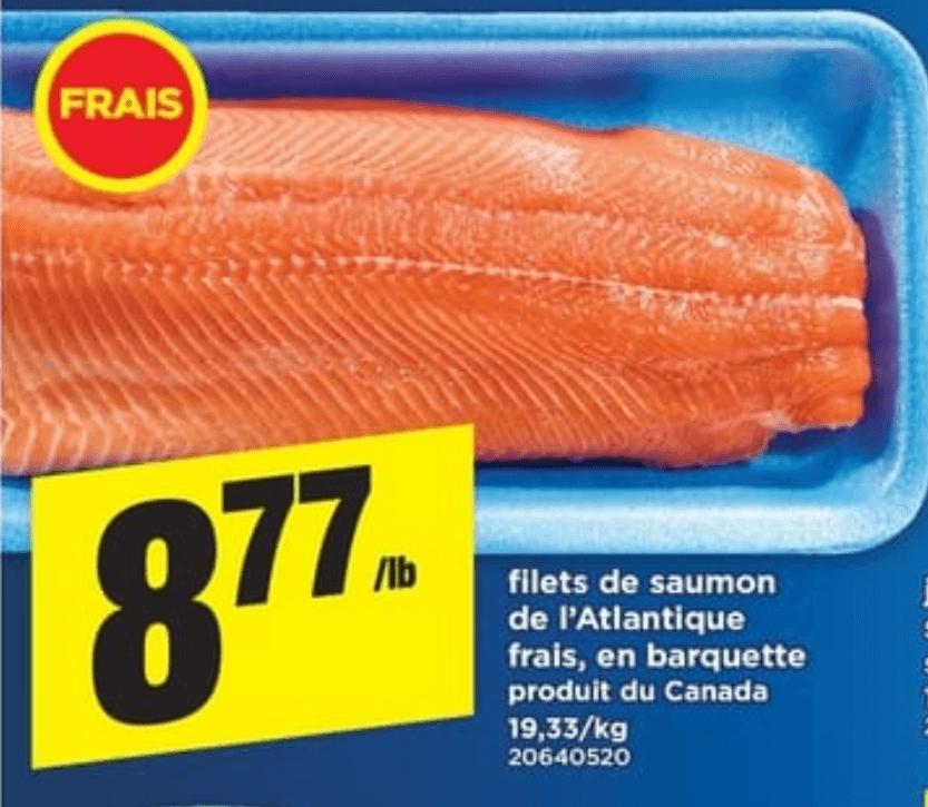 Filets de Saumon de L'atlantique Frais du 11 au 17 avril 2019