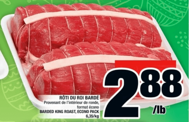 Rôti du Roi Bardé du 11 au 17 avril 2019