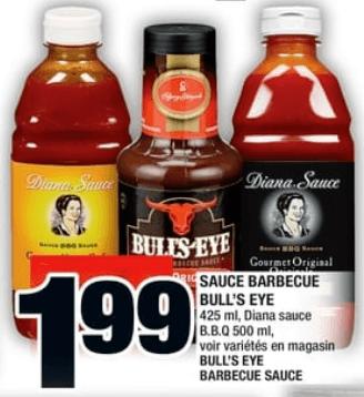 Sauce Barbecue Bull's Eye du 11 au 17 juillet 2019