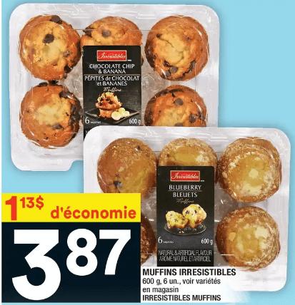 Muffins Irresistibles du 11 au 17 juin 2020
