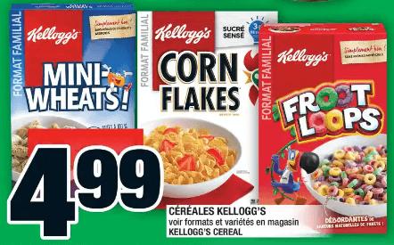 Céréales Kellogg's du 12 au 18 décembre 2019