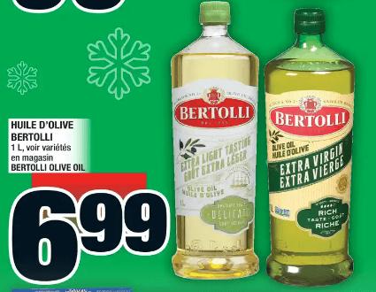 Huile D'olive Bertolli 1L du 12 au 18 décembre 2019