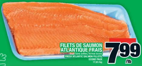 Filets de Saumon Atlantique Frais du 12 au 18 décembre 2019