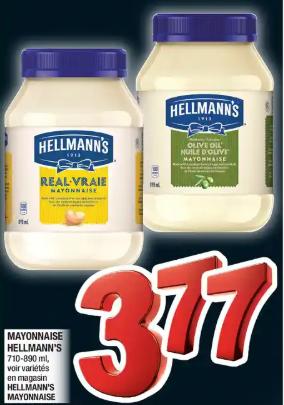 Mayonnaise Hellmann's du 12 au 18 mars 2020