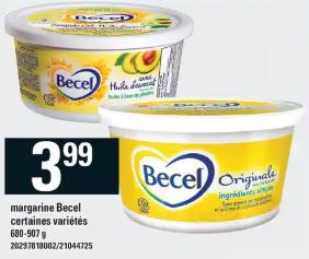 Margarine Becel 907g du 13 au 19 février 2020
