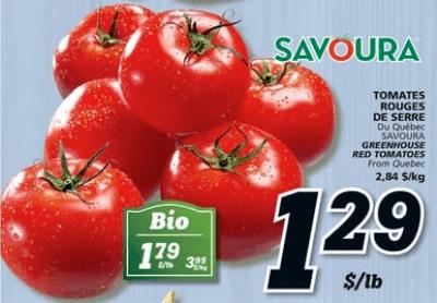 Tomates Rouges de Serre Savoura du 13 au 19 juin 2019