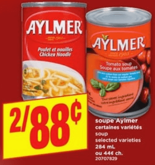 Soupe Aylmer 284 ml du 13 au 19 juin 2019