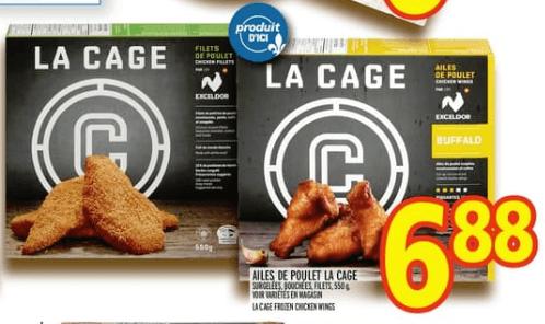 Ailes de Poulet la Cage. Surgelées, Bouchées, Filets du 13 au 19 juin 2019