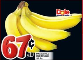 Bananes Dole du 13 au 19 juin 2019