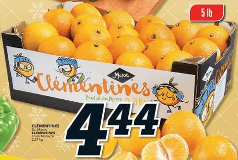 Clémentines 5 lb du 14 au 20 novembre 2019