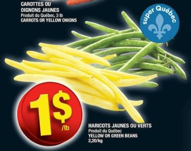 Haricots Jaunes ou Verts du 15 au 21 août 2019