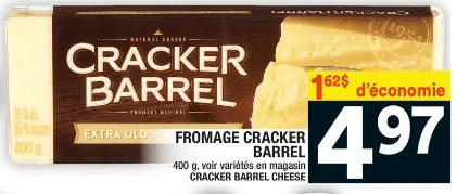 Fromage Cracker Barrel 400g du 16 au 22 avril 2020