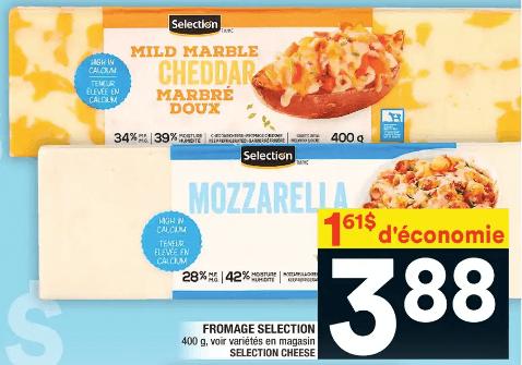 Fromage Selection 400g du 16 au 22 janvier 2020