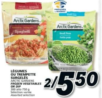 Légumes ou Trempette Surgelés Arctic Gardens 300 à 750g du 16 au 22 mai 2019