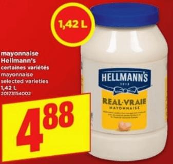 Mayonnaise Hellmann's 1,42L du 16 au 22 mai 2019
