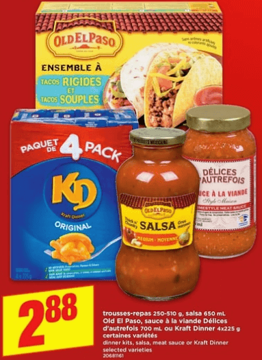 Kraft Dinner 4X 225g du 16 au 22 mai 2019