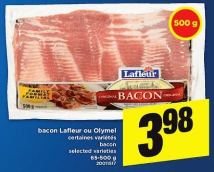 Bacon Lafleur ou Olymel 500g du 18 au 24 avril 2019